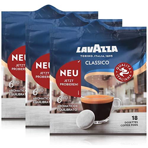Lavazza Kaffeepads Classico 18 Pads - Für Kaffee-Padmaschinen 125g (3er Pack)