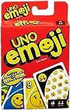 UNO Emoji Mattel Gioco di Carte con Faccine e Simboli, Multicolore, DYC15