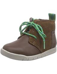 Clarks Crazy Peck Fst - Zapatos con cordones de cuero para bebé-niñas