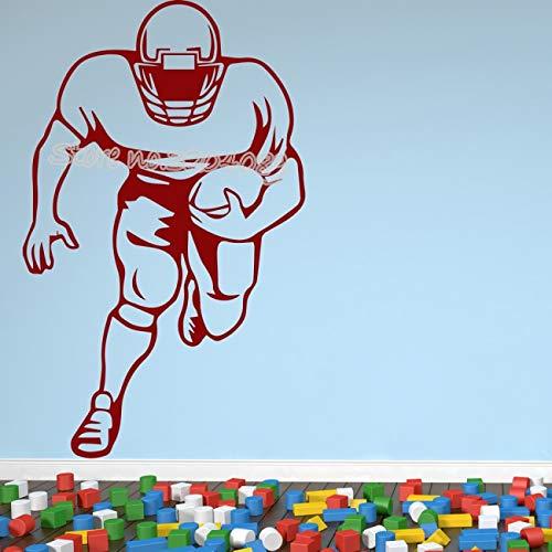 Helm American Football Spieler Hobbys Sport Wandaufkleber Sport Spiel Teen Wohnzimmer Vinyl Aufkleber Wohnkultur WandbildCM 85x53cm