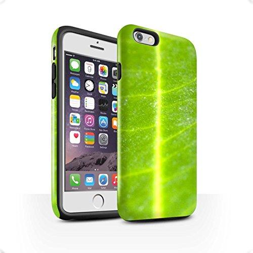 STUFF4 Lucidare Antiurto Custodia/Cover/Caso/Cassa del Telefono per Apple iPhone 6S / Foglia modello / Fiori (Foglia Telefono)