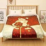 SOMESUN Weihnachtsdekor Bettdecke Super Weich Flanell Kuscheldecke Schlafzimmer Sofa Büro Haus Christmas Dekoration Tagesdecken Mittagsschlaf Warme Decke Weihnachten Geschenk Für Baby Kind
