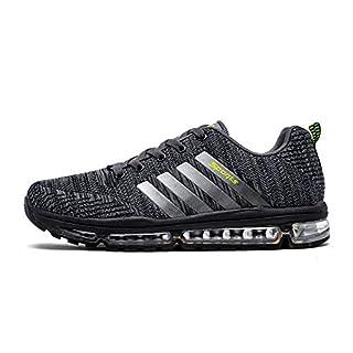 Fexkean Unisex Sportschuhe Laufschuhe Turnschuhe Atmungsaktiv Sneakers Air Sport Casual Shoes Herren Damen (8068Grey43)