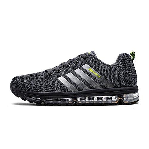 Fexkean Scarpe da Ginnastica Corsa Sportive Running Respirabile Basse Waliking Sneakers para Uomo Donna (8068Grey43)