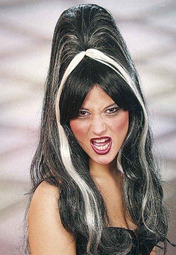 Damen Perücke Elvira zum Kostüm Hexe Vampirin zu Halloween Karneval
