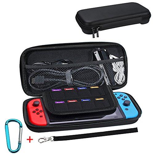 Tasche für Nintendo Switch, Galopar Storage Bag EVA Schutzhülle für Nintendo Switch mit 8 Game Slots (Schwarz)