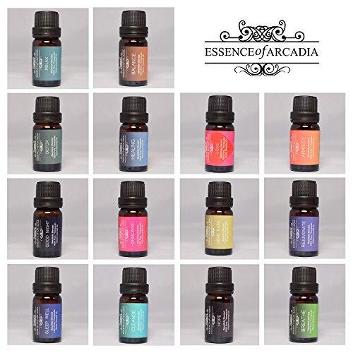 Echinacea-mix (Essence of Arcadia–Set aus Top Aromatherapie essenzölmischungen (je 10ml)–100% Therapeutische Grade Öl (wird mit einer Download-Rezept Buch))
