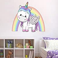 Unicorn Rainbow Wall Sticker Girls Bedroom Wall Art Cute Nursary Decal Princess