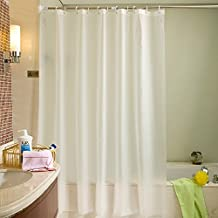 LikeYou Cortina de ducha extra larga contemporánea del baño Cortina impermeable y resistente al moho de la cortina de ducha del vinilo Durable con los ojales (240x200cm)