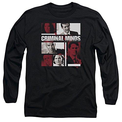 Criminal Minds TV Show CBS Character boxes Adult Long Sleeve T-Shirt Tee