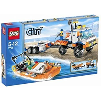lego city model 7726 coast guard truck with speed boat toys games. Black Bedroom Furniture Sets. Home Design Ideas