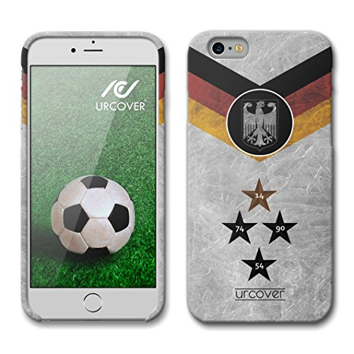 Urcover® Kompatibel mit Apple iPhone 6 / 6s WM 18 Hülle [ Team Deutschland ] Fußball Case