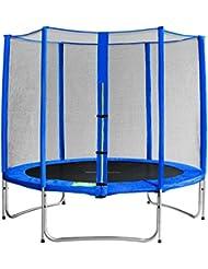 SixBros. Sixjump 2,45 M Trampoline de jardin bleu Certifié par Intertek / GS - Filet de sécurité - TB245/1606