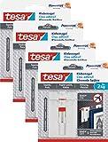 tesa Verstellbarer Klebenagel für Tapeten und Putz/Selbstklebender Nagel von tesa Powerstrips / 8 x 2 kg Halteleistung