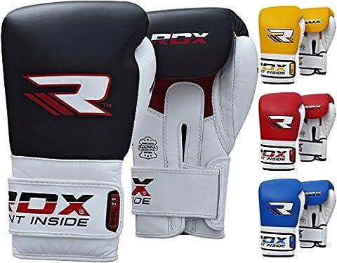 RDX Cuir De Vachette Gants de Boxe Sparring Kickboxing Sac De Frappe D'entrainement Muay Thai