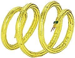 Idea Regalo - WIDMANN Bracciale Dorato a Forma di Serpente, Modellabile