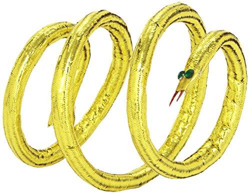 WIDMANN Bracciale Dorato a Forma di Serpente, Modellabile