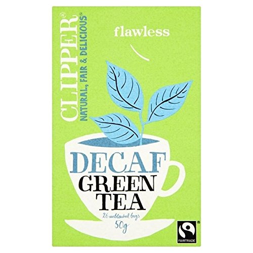 Clipper Fairtrade Descafeinado té verde 26para unidades (Paquete de 6)