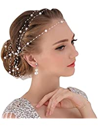 DUUMY La Coiffure de Cheveux Plat MariéE Homme Tianxing Perles Coiffure Sauvage Main Accessoires Tête Cheveux Fleur Avec Le Mariage de Bijoux