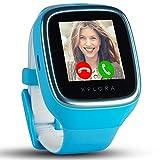 XPLORA 3S - Wasserdichte Telefonuhr für Kinder (SIM-Free) - Anrufe, Nachrichten, Schulmodus, SOS-Funktion, GPS-Ortung und Kamera - Beinhaltet 2 Jahr Garantie (BLAU)