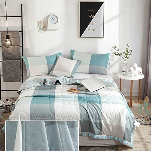 QUILT LVZAIXI Bettwäsche Luxus Cotton Print Patchwork gesteppte Tagesdecken gedruckt handgemachte Bettwäsche (Farbe : 03, größe : 150x200cm)