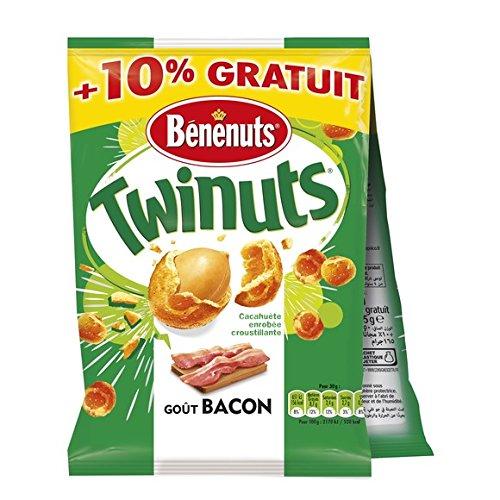 bénénuts Benenuts twinuts bacon 150gx2+10% gratuit - ( Prix Unitaire ) - Envoi Rapide Et Soignée
