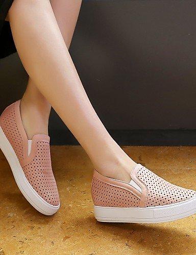Shangyi Gyht Chaussures Femme-mocassins-formel / Décontracté / Sportif-confortable / Bout Arrondi-plateau-faux Cuir-noir / Rose / Blanc Blanc