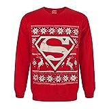 DC Comics - Jersey navideño de Superman (XXL/Rojo)