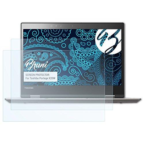 Bruni Schutzfolie kompatibel mit Toshiba Portege X20W Folie, glasklare Bildschirmschutzfolie (2X)