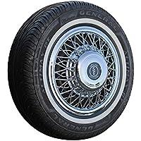 Set speiche Copricerchi + bianco da parete anelli in nero/bianco 13pollici–Universale, adatto autovetture. auto d' epoca,