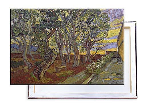 Unified Distribution Vincent Van Gogh - Der Garten des Asyls - Klassisches Gemälde - Replik auf Leinwand 100x70 cm -