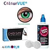 ColourVUE 14MM Crazy Lens Emerald Green ...