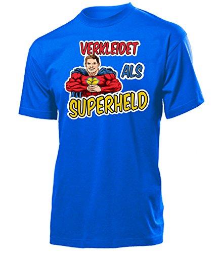 Superheld 4910 Karneval Fasching Kostüm Herren Männer Superheldenkostüm T-Shirt Karneval Faschings Karnevals Outfit Klamotten Motto Party Blau XXL (Superhelden Motto Party Kostüm Ideen)