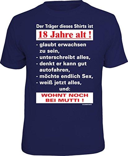 RAHMENLOS Original T-Shirt zum 18. Geburtstag: Der Träger Dieses Shirts ist 18 Jahre alt - Größe L, Nr.4410