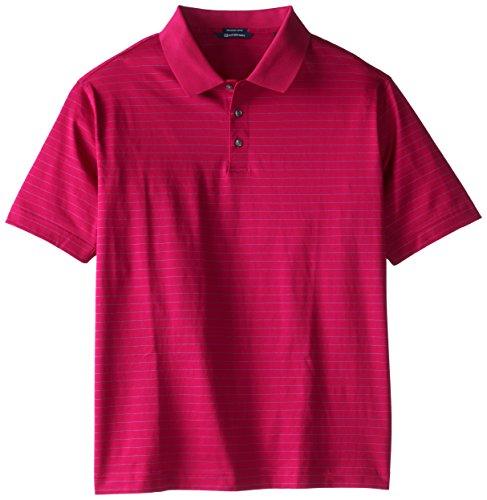 Cutter & Buck Herren Hemd Spencer Mercerized Big-Tall - Pink - 1X/Groß - Mercerisierte Jersey Polo