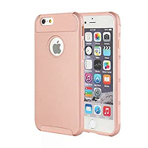 iPhone 6 Plus Case, iPhone 6s Plus Case, MTRONX™ Shockproof Heavy Duty Durable Hybrid Hard Soft TPU Case Cover Bumper For Apple iPhone 6 Plus, iPhone 6s Plus - Rose Gold/Rose Gold(HC-RGRG)