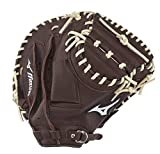 Mizuno Franchise Baseball Handschuh Serie, 312736.R883.23.3350, Coffee/Silver Catchers Mitt, 33.5'