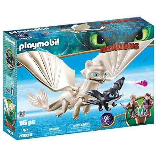 PLAYMOBIL DreamWorks Dragons Furia Diurna y Bebé Dragón con Niños, a Partir de 4 Años (70038) 1