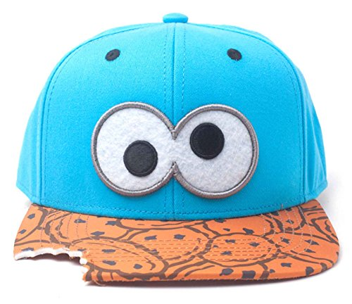Sesame Street Baseball Cap Cookie Monster Bite Nue offiziell Blau Snapback