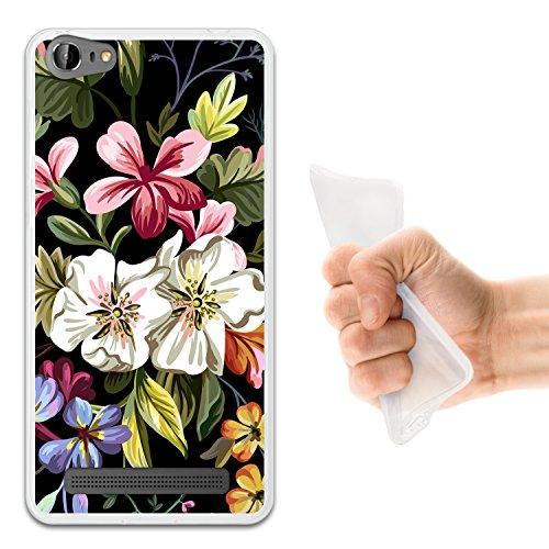 WoowCase Doogee Y200 Hülle, Handyhülle Silikon für [ Doogee Y200 ] Blumenstrauß Handytasche Handy Cover Case Schutzhülle Flexible TPU - Transparent