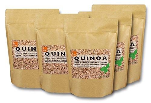 """Quinoa Samen weiß 5kg """"ChiaDE"""" (5 x 1kg) Sparpaket. Von bester Qualität"""
