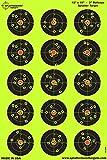 Confezione da 25 – 30,5 x 45,7 cm – 7,6 cm BullsEye Splatterburst reattiva shooting target -Immediatamente vedere i tuoi colpi all'impatto - Perfetta per tutte le armi da fuoco, fucili, pistole e fucili d'aria!