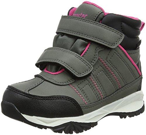 Latupo GmbH - Shoes Jade, Scarpe da Arrampicata Alta Unisex-Bambini, Grigio (Grau/Pink), 31 EU
