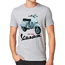 Vespa PX125moda Hombre de calidad pesada de camiseta.