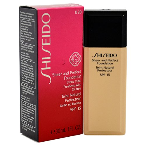 Shiseido - Fondotinta Sheer & Perfect, n° B20 Natural Light Beige, 1 pz. (1 x 12 ml)