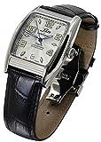Xezo Incognito Herren Armbanduhr 10ATM wasserdicht tonnenförmiges Gehäuse. 9015Miyota-Automatik-Uhrwerk. Luxuriöser Retro-Style. Großes Lederband