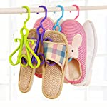 Gaddrt Shoe Storage Rack Hook Drying Racks Space Saver Hanger Double Hooks Plastic Hanger