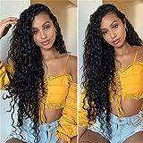Perruque Femme Naturelle Brésilien Cheveux Naturel Humain Vrai 100% Bleached Knots Free Part Top Swiss Lace Front Wig 13x4...