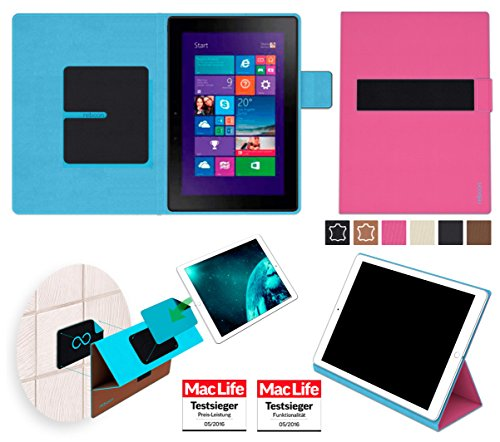 reboon Hülle für Dell Venue 10 Pro Tasche Cover Case Bumper | in Pink | Testsieger