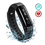 Fitness Tracker IP68, Mpow Braccialetto Fitness Impermeabile IP68 Orologio Fitness Smartwatch Braccialetto Smart Nuoto Fitness Bracciale Bluetooth 4.0 Contapassi Smart Watch Cardiofrequenzimetro da Polso Braccialetto Fitness con Cardiofrequenzimetro / Pedometro / Calorie / Monitor del Sonno / Notifiche Chiamate / Activity Tracker Compatibile per Nuoto Fitness, per iOS 8.0 o Superiore, Android 4.3 o Sopra, Nero